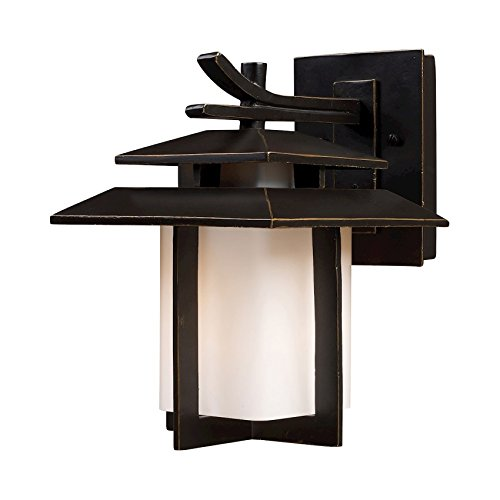 - Artistic Lighting 42170/1 Kanso 1-Light Outdoor Sconce 8-Inch Width by 11-Inch Height In Hazelnut Bronze