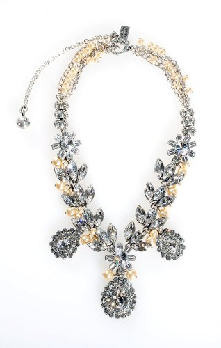 vski Crystal and Cream Pearl Necklace (Otazu Swarovski Crystal)