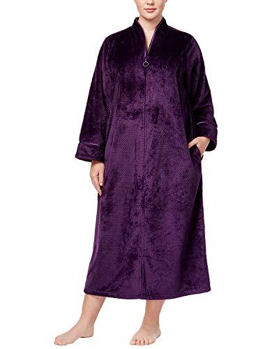 Charter Club Super Soft Zip Up Robe (Rich Concord Purple) (2X)