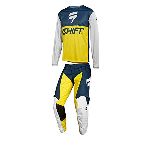 Shift Racing 2018 WHIT3 LABEL GP Limited Edition Navy/Yellow Jersey & Pants Racing Suit Combo- 2X/40W Combo Suit