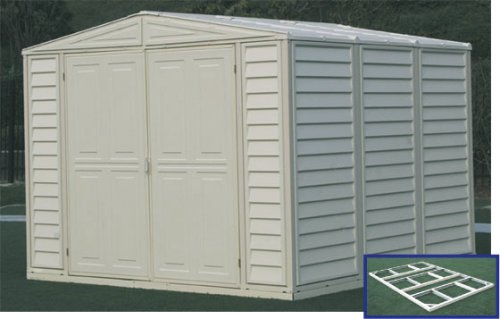 Duramate Vinyl - Duramax Model 00314 8x8 DuraMate Vinyl Storage Shed with foundation