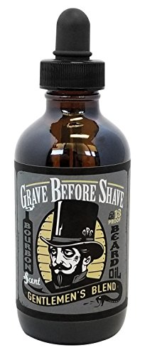 - GRAVE BEFORE SHAVE Gentlemen's Blend Beard Oil (Bourbon/Sandal Wood Scent) 4 oz. BIG BOTTLE