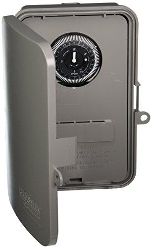 Grasslin by Intermatic GM40AV 24-Hour Electromechanical, 40A, SPDT/DPDT, Auto-Voltage, NEMA 3R Outdoor Plastic Enclosure -