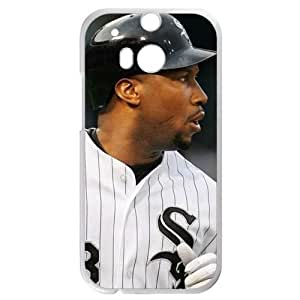 MLB&HTC One M8 White Chicago White Sox Gift Holiday Christmas Gifts cell phone cases clear phone cases protectivefashion cell phone cases HABC605585201