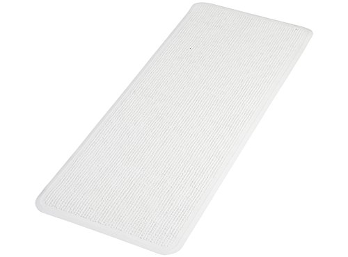 PAPILLON tappetino antiscivolo per vasca da bagno, con ventose, resistente, in gomma naturale, bianco, 90x 36x 1cm IFC Papillon 70130
