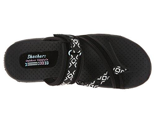 Skechers Swag para Zig Reggae Blanco Negro Chanclas Mujer rqSRrwnTA