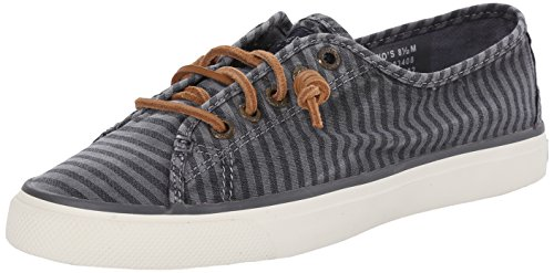 Sperry Top-sider Donna Seacoast A Righe Oxford Fashion Sneaker Charcoal