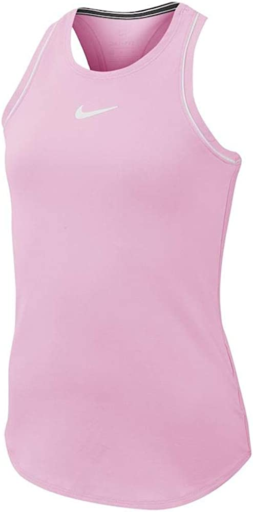Nike G Nkct Dry Tank Camiseta De Tirantes, Niñas, Pink Rise/White ...