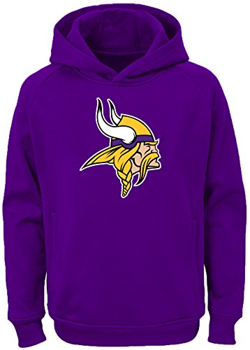 fa26ec844 Minnesota Vikings Hooded Sweatshirts. Outerstuff NFL Youth Team Color  Performance Primary Logo Pullover ...