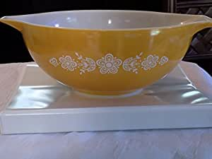 Vintage Pyrex Butterfly Gold 4 Qt Cinderella Mixing Bowl 404