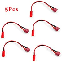 New 5PCS Amass T Plug To JST Plug Female to Female Battery Adapter with 20AWG 10CM Cable By KTOY