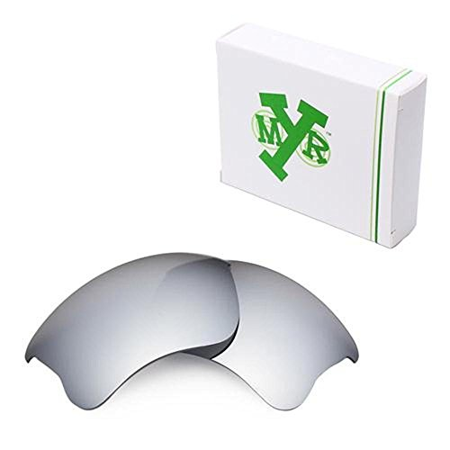 3c2f0d004f1 Mryok Polarized Replacement Lenses for Oakley Flak Jacket XLJ - Silver  Titanium