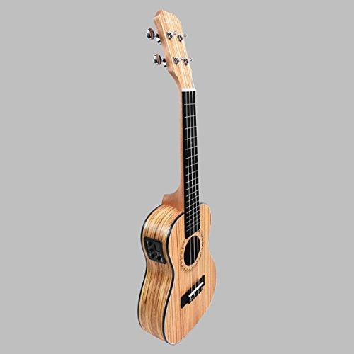 Caramel CC100 Zebra Wood Concert Acoustic Electric Ukulele by Caramel