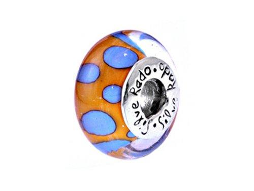 SilveRado Murano Glass Private Dancer Bead/Charm