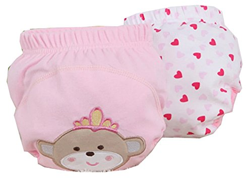 Training Pant Unisex-baby Infant Girls&boys Reusable Soft Waterproof 2-pack (L 11-15kg baby, #4) ()