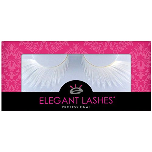 Elegant Lashes F877 Premium White Feather False Eyelashes Halloween Dance Rave Costume -