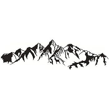 "Amazon.com: DNVEN (41""w x 11""h) Mountain Hill Silhouette ..."