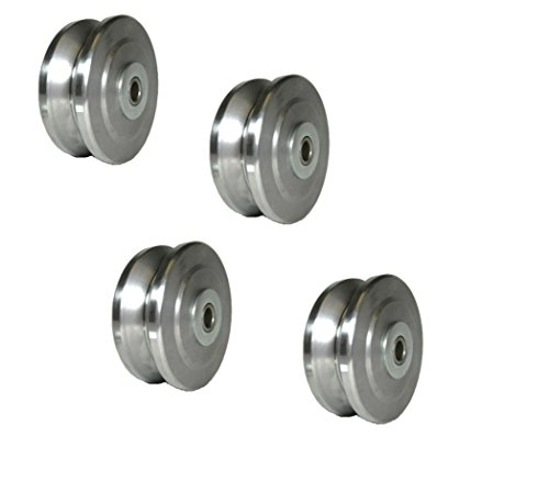 Set-of-4-Bond-4-x-1-12-Drop-Forged-Steel-V-Groove-Wheel-with-12-ID