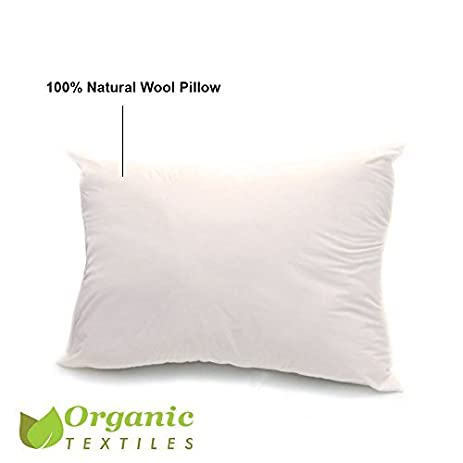 Amazon Organic Cotton Covered Wool Filled Pillow