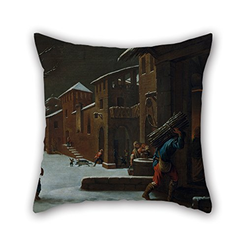 Oil Painting Antoni Viladomat - Winter Throw Cushion Covers 16 X 16 Inches / 40 By 40 Cm Best Choice For Bedroom,car Seat,bf,dance Room,birthday,indoor With Two Sides