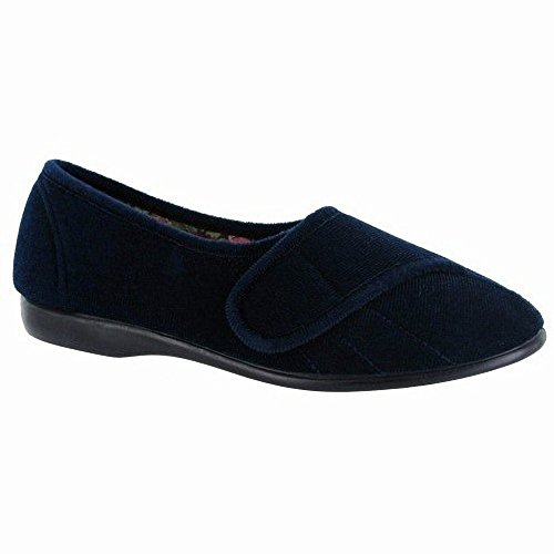 Audrey Fasten Slippers Touch Navy Ladies GBS Womens qwC4f