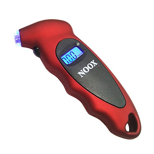 NOOX Tire Gauge Digital Tire Pressure Gauge for Bicycle Car Truck Jeep Sedan Limousine Wagon Coupe CV/EV/SUV/PV/PC Roadster Convertible Van BUS Taxi Ambulance Motor Bicycle 150 PSI Bicycle Tire Pressure