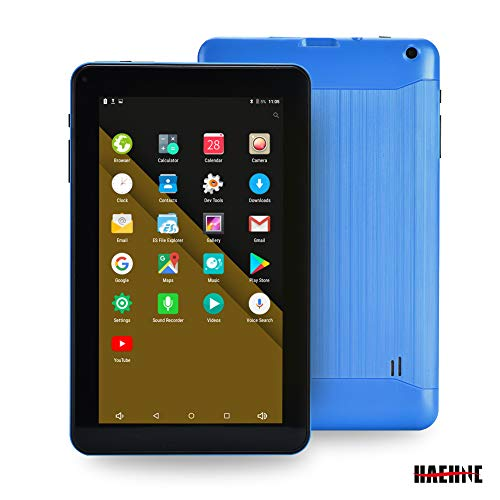 Haehne 9 inch Tablet, 1G RAM 16GB Storage, Android 6.0, 9″ HD Display, Quad Core Processor, Dual Cameras, WiFi Only, Bluetooth, Blue