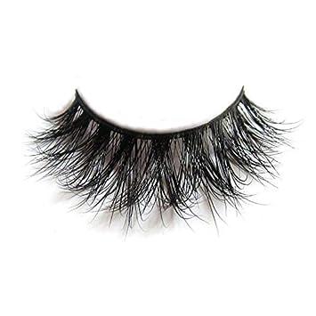 32637edf024 Lunamoon 3D Mink False Eyelashes Siberian Mink Fur Long Thick Hand-made  Reusable Eyelashes Natural