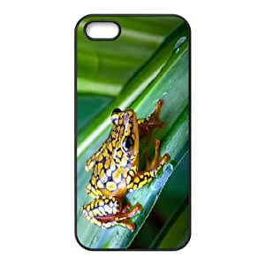 Cathyathome the Frog IPhone 5,5S Case Wood Frog, Hardshell the Frog, {Black}