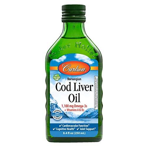 Carlson Norwegian Cod Liver Oil Natural, 250ml