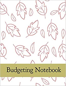 budgeting notebook leaves design monthly weekly financial budget