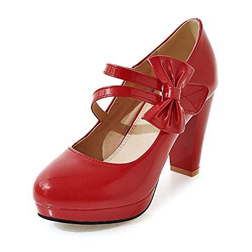 Taille À La Escarpins Mariage Talons Noir De Red Hoesczs Plateforme 43 Hauts 33 Noeud Pointu Papillon Femme Toe Blanc Plus Chaussures Femmes zExWxSA