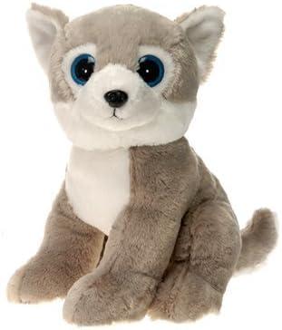 15 43234-595 Husky Dog with Big Eyes Plush Stuffed Animal Toy by Fiesta Toys