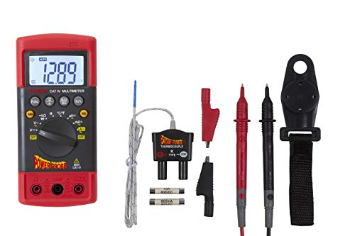 (Power Probe CAT-IV Digital Multimeter (PPDMM) [Measures AC/DC Voltage, Current Resistance, Frequency, Duty Cycle, True RMS, Temperature & Capacitance])