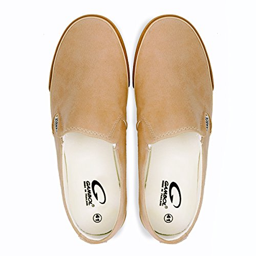 GAMBOL Mens Slip-On Shoes - Ezy Style Tan zM92LdTuF
