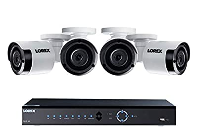 Lorex 8 Channel 4K NVR Security System, 2TB, 4 Color Night Vision Cameras