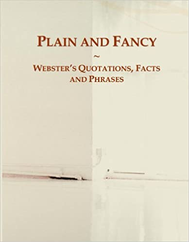Book Plain and Fancy: Webster's Quotations, Facts and Phrases