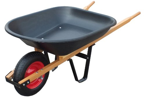United General WH89679 Poly Tray Wheelbarrow, 4 Cubic-Feet