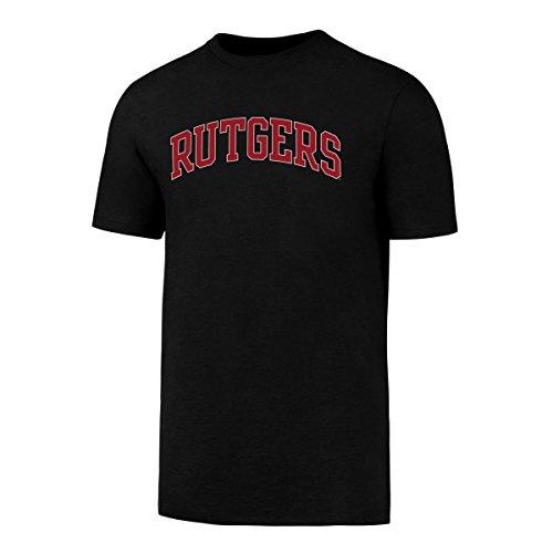 Scarlet Jet - NCAA Rutgers Scarlet Knights Men's OTS Rival Tee, Jet Black, XX-Large