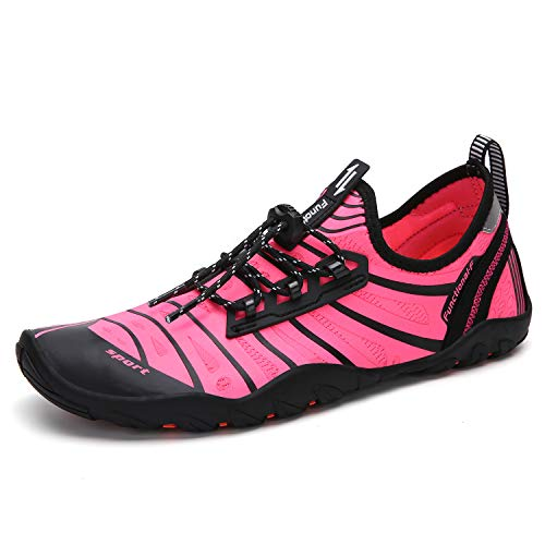 Men's Women's Barefoot Water Shoes Surf Sailing Wing-Pink 8 M US Women / 6.5 M US Men (39)