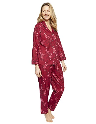 Cyberjammies 1334 Women's Nora Rose Violet Burgundy Red Mix Floral Cotton Pyjama Set