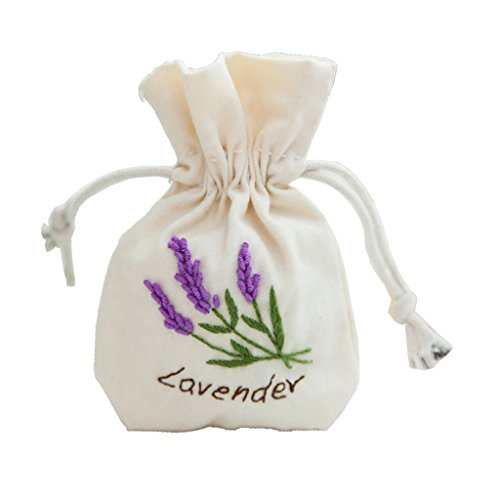 Baosity 植物 花 巾着袋 ポーチ 刺繍 ミシン DIY 材料 キット 全9種 - ラベンダー