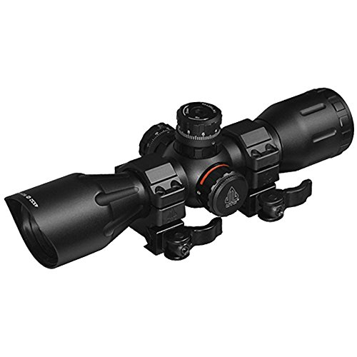 UTG 4X32 1' Crossbow Scope, Pro 5-Step RGB Reticle, QD Rings