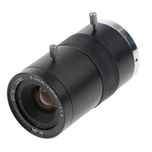 SM SunniMix 6-15mm F1.4 1MP(Megapixels) Varifocal Secure CCTV Camera Lens CS Mount Manual IRIS Zoom Lenses FOV 54-23 Degree ()