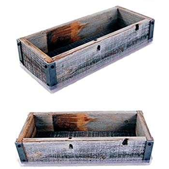 Amazon.com : Reclaimed Barnwood Planter Box - Weathered ...