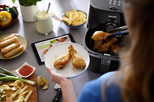 Philips TurboStar Technology Airfryer, Analog Interface, Black - 1.8lb/2.75qt- HD9621/96
