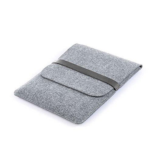 JUSTYOU 13-Zoll-Computer-Tasche 13-Zoll-Hülse 15-Zoll-Notebook Wollfilz Laptop-Hülle 12 Zoll 12 inch gray