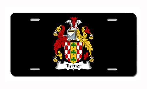 (Carpe Diem Designs Turner Coat of Arms/Turner Family Crest (Ireland) License/Vanity Plate - Made in The U.S.A.)