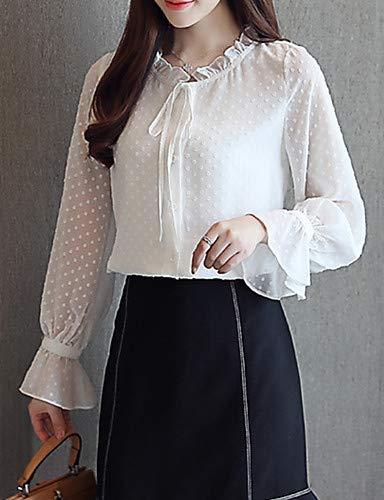 Unie YFLTZ Femme White Blouse Couleur nRO7xPWz
