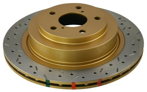 DBA DBA4654XS-10 4000 Series XS Premium Cross-Drilled and Slotted Front Vented Disc Brake Rotor
